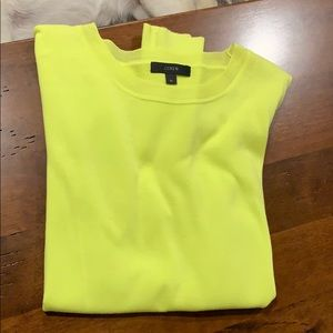 J Crew lightweight sweater. Neon yellow.